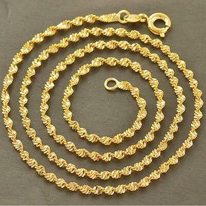 9k Solid Gold Filled Wave Necklace